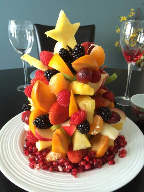 MishMash Globe | Christmas Fruit Tree