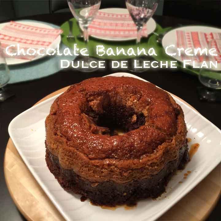 MishMash Globe | Chocolate Banana Creme Dulce de Leche Flan